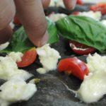 Pizza realizzata con carboni vegetali - Angelo Berardinelli