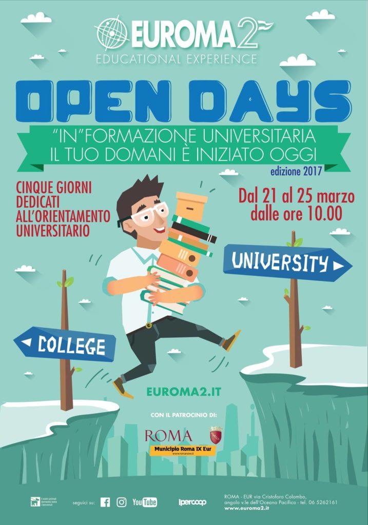 Locandina Open Day Euroma2 - Scuola Tu Chef